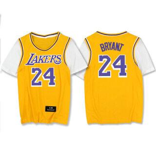 NBA-STAR Bóng Rổ Giả Hai Tay Ngắn Bộ Đồ Tập Bóng Rổ KobeBryant, Tay Ngắn Cỡ Lớn Nhanh Khô thumbnail