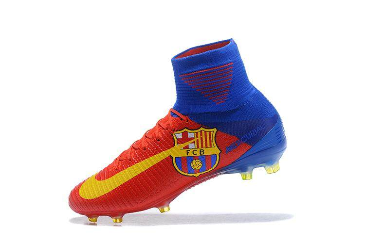 8879c100e9a8 Original High Ankle Football Boots Superfly FG Men's Soccer Shoes XI 11 CR7  Profissional Adulto Football