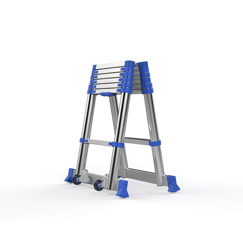 High-quality Thick Aluminum Alloy 2.05M+2.05M Multi-function Ladder Engineering Ladder Portable Household Folding Ladder