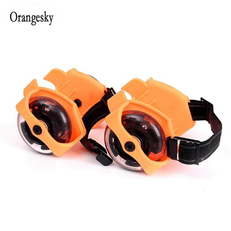 Giá bán Orangesky 1 Đôi Giày Trượt Patin Nhấp Nháy Cơn Lốc Ròng Rọc Bánh Xe Gắn Đèn Flash Gót Lăn