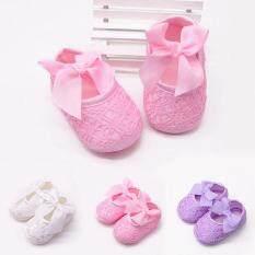 Giày nơ lớn đế bằng cho bé gái 0-12 tháng 3 màu sắc khác nhau để lựa chọn – I Love Daddy & Mummy – INTL