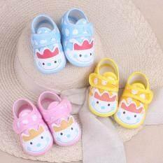 I Love Daddy & Mummy Giày vải dạng dán cho trẻ sơ sinh và trẻ nhỏ chất liệu cotton mềm mại kèm họa tiết đáng yêu – intl