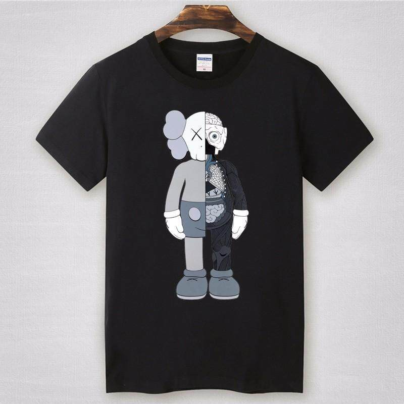Diy T Shirt Men S Uniqlo Kaws Sup Hip Hop Diy Skate Streetwear T Shirt Hiphop Summer Cotton Sad Boy Kawaii Male001black