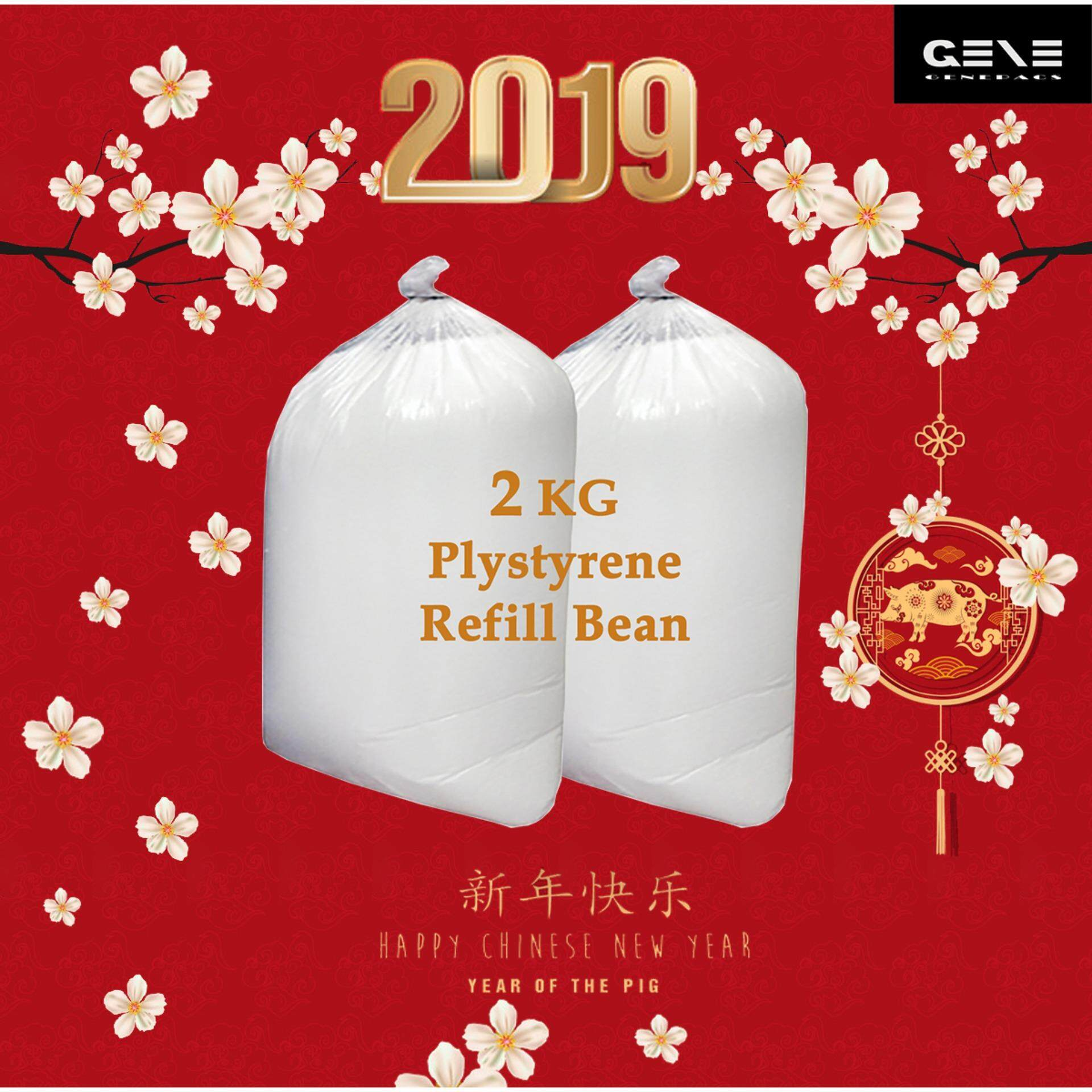 Genespac 2kg Premium Quality Polystyrene Refill Bean Beads For Bean Bag By Genespac Distribution.
