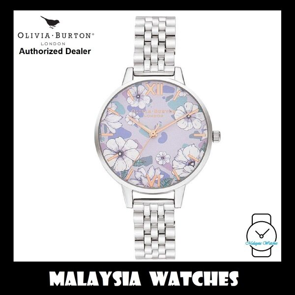 (OFFICIAL WARRANTY) Olivia Burton OB16AN05 Quartz Groovy Blooms Dial Rose Gold-Tone Hands & Index Stainless Steel Ladies Watch Malaysia