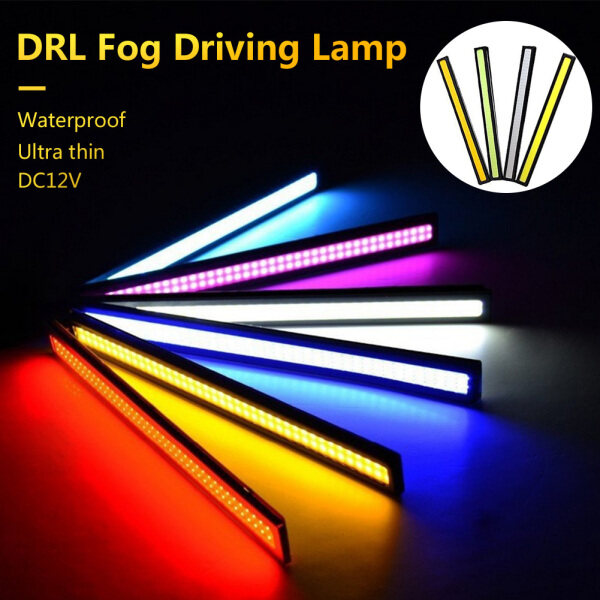 Janedream Màu Trắng 1Pcs 17 Cm Đèn LED COB Cho Xe Ô Tô Đèn Đèn Chạy Ban Ngày Chạy Sương Mù Đèn Chống Thấm Nước DC12V