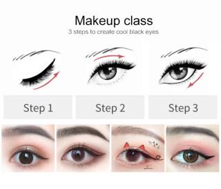 Everbeauty hàng Có Sẵn Kẻ Mắt Kẻ Mắt Dạng Lỏng Chống Nước Nhanh Khô, Bút Kẻ Mắt Dạng Lỏng Lâu Trôi Vẻ Đẹp Hóa Mỹ Phẩm Công Cụ thumbnail