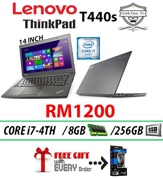 Lenovo ThinkPad T440s Intel Core i7-4TH GEN 8GB RAM 256GB SSD 14 INCH Malaysia
