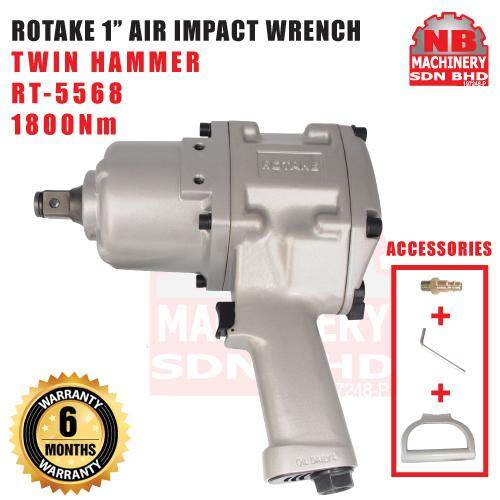 ROTAKE 1 1800Nm TWIN HAMMER AIR IMPACT WRENCH RT-5568 :- NB MACHINERY