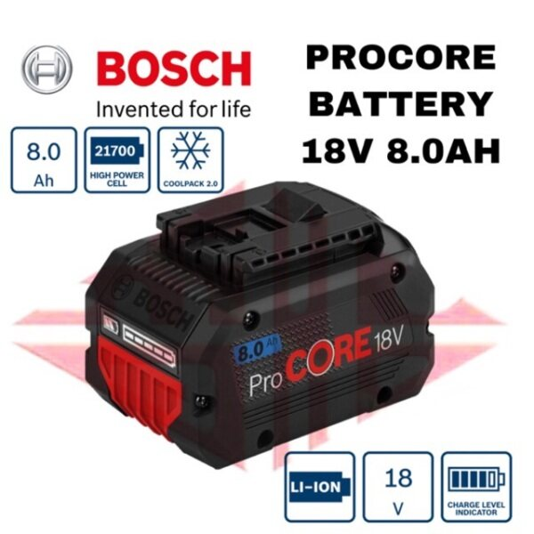 EEHIONG1977 BOSCH ProCORE 18V Li-ion battery 8.0Ah