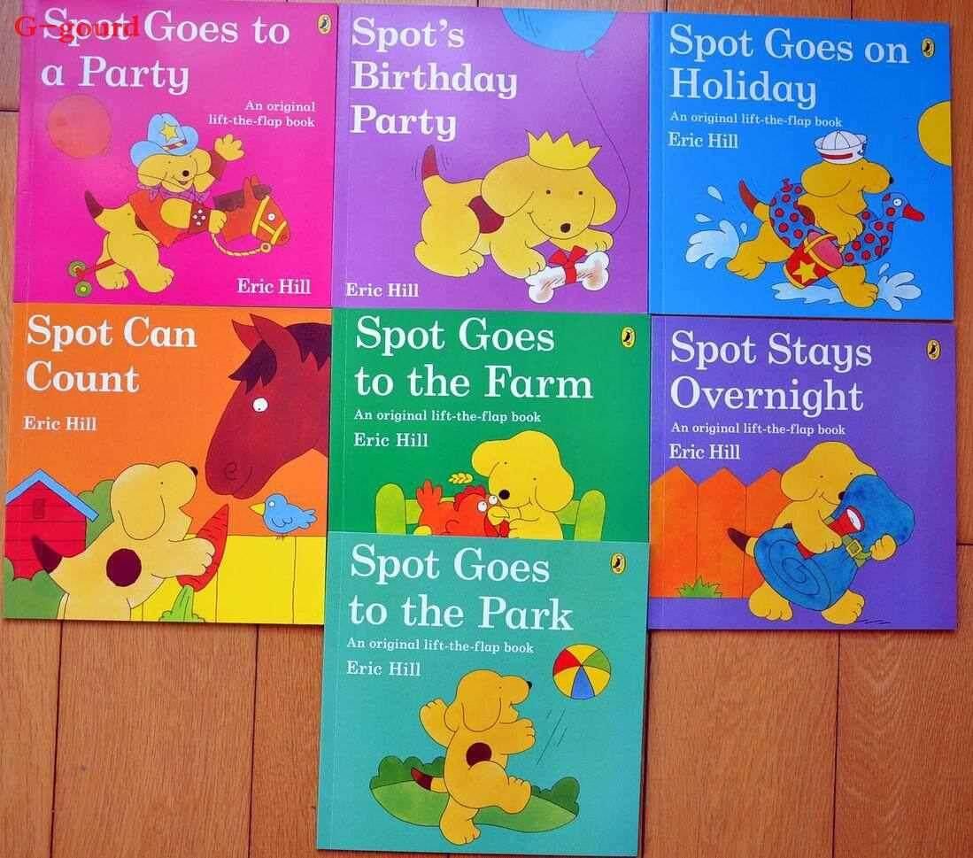 G-gourd Eric Hill Spot Lift the flap classic where's Spot story books set of 7 Books
