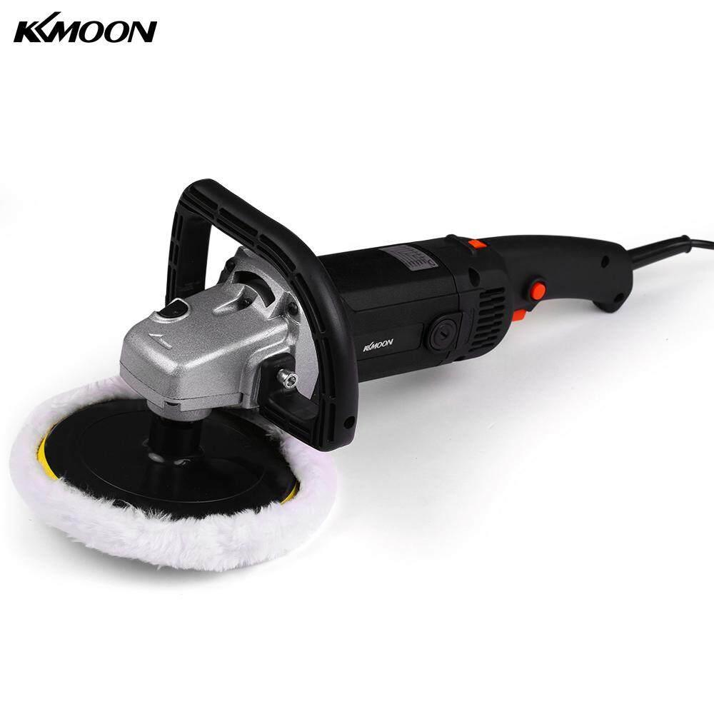 KKmoon 7# 1400W Handheld Orbital Electric Car Waxing Polisher M14 Polisher 180mm Car Paint Care Variable Speed Household Marble Tile Floor Polishing Glazing tool EU Plug