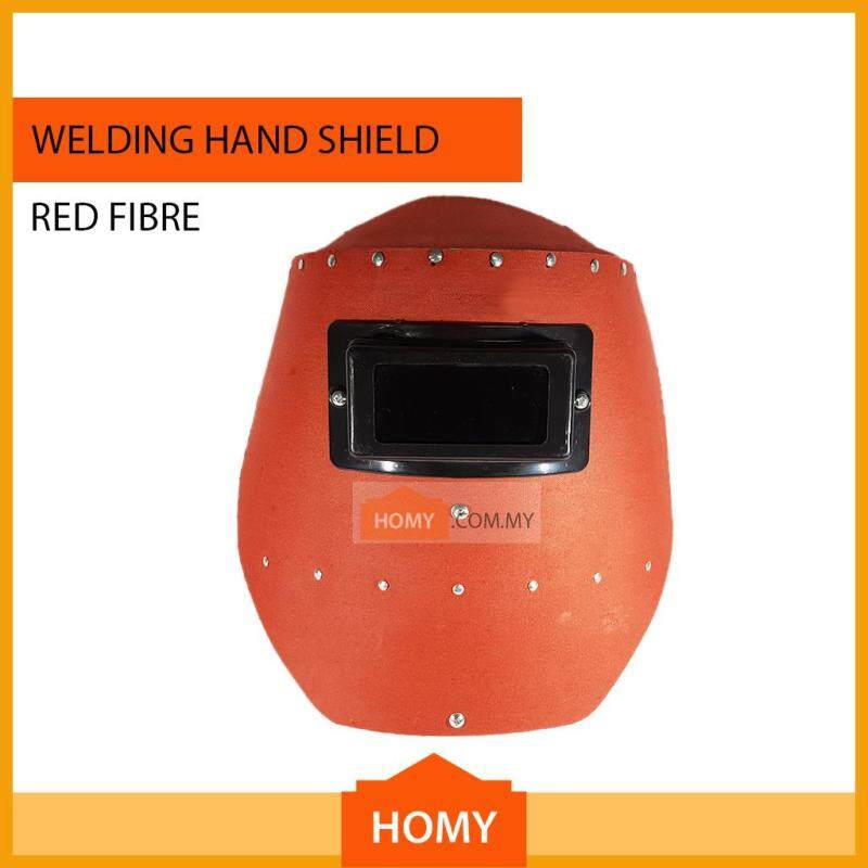 [Assembled] Industrial Grade Welding Hand Shield Red Fibre with Lens
