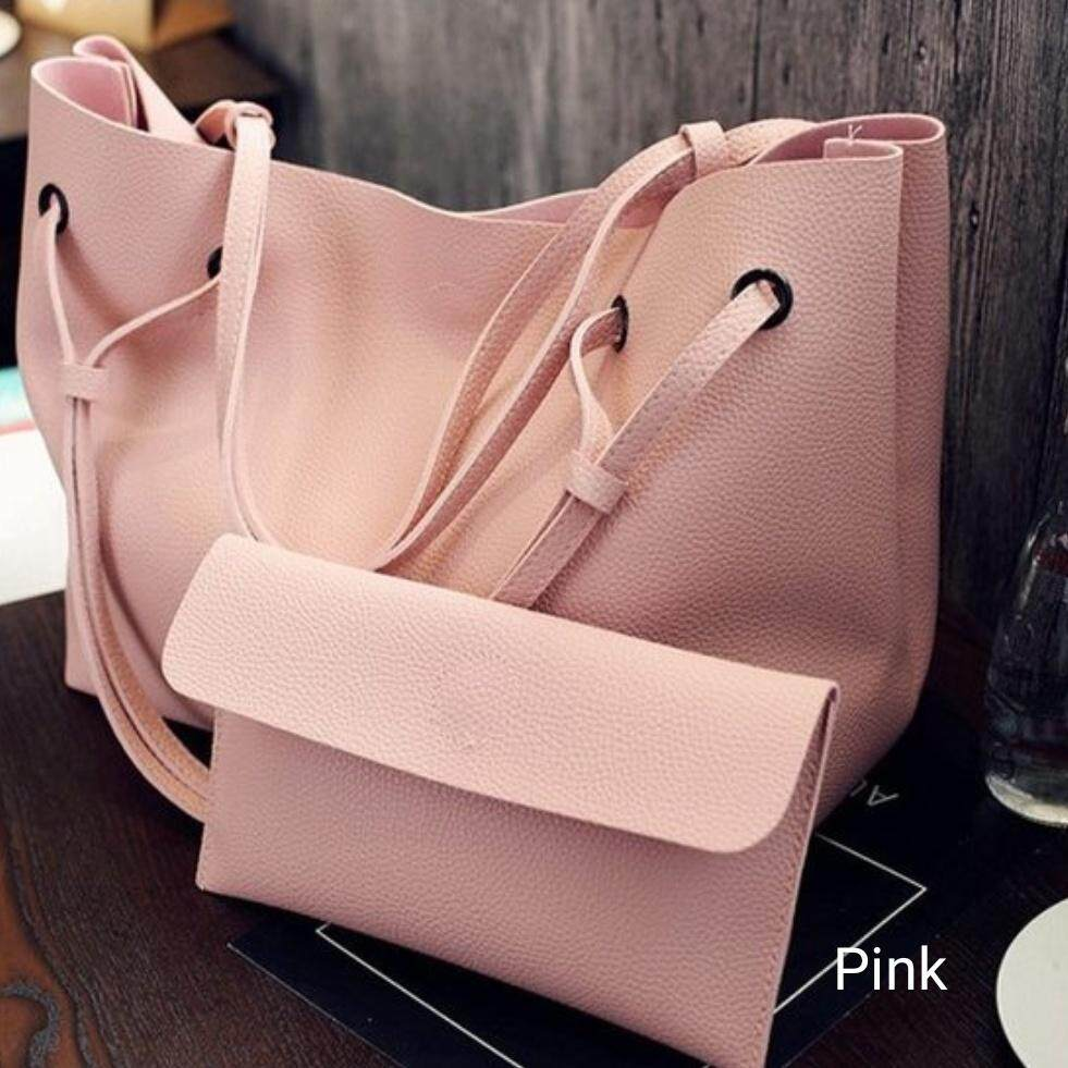 d942dd7a3f955d JMALL 2 in 1 TOTE Large Tote Bag Shoulder Handbag Beg Bags Sling Purse Pouch