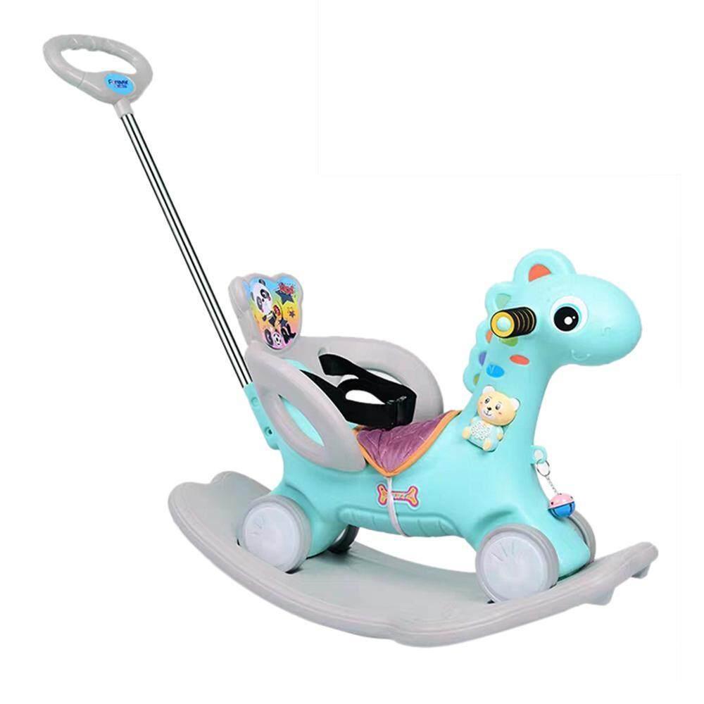 Mua Untiemall Ngựa Bênh Đồ Chơi, bé Bênh với Đèn LED Nhựa Lớn Kép với Âm Nhạc Đi Xe Ô Tô (Tặng Gấu Đầu giáo dục machin