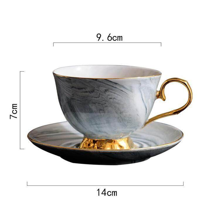 67ffb38b7af 300ml Hand painted High-grade Coffee Cup Saucer Set European-style Marble  Phnom Penh
