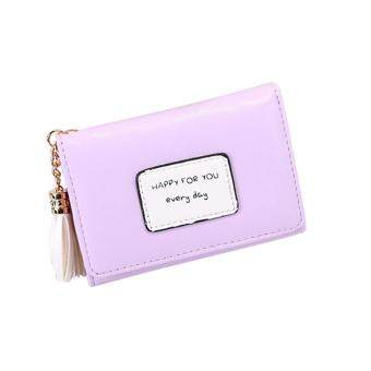 b602e87bef11 ... Style Short Fashion Wallet, Tassel PU Leather Snap Closure Mini  Multi-slots Coin Purse Change Wallet Pouch Card Holder for Teen Girls &  Women ซื้อที่ไหน ...