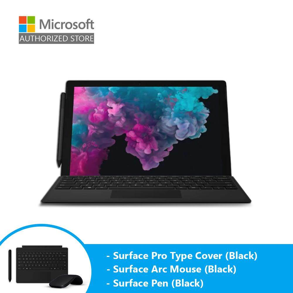 [BUNDLE] Microsoft Surface Pro 6 - Platinum (i5/8GB/256GB) + Type Cover (Black) + Pen (Black) + Arc Mouse (Black) Malaysia