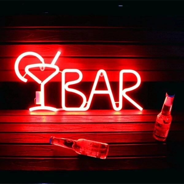 Bảng giá Đèn LED Biển Hiệu Neon Dạng Ống Đèn Neon Chữ Nước Trái Cây Có Điều Khiển Từ Xa Cho Quán BAR KTV Đồ Ăn Nhẹ Trang Trí Tường Giáng Sinh