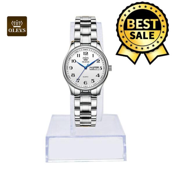 OLEVS TOP Watch for women sale original Female Dress Analog Quartz Watch, Stainless Steel Strap,Casual Fashionable Waterproof Watch Roman Numeral Watch Malaysia