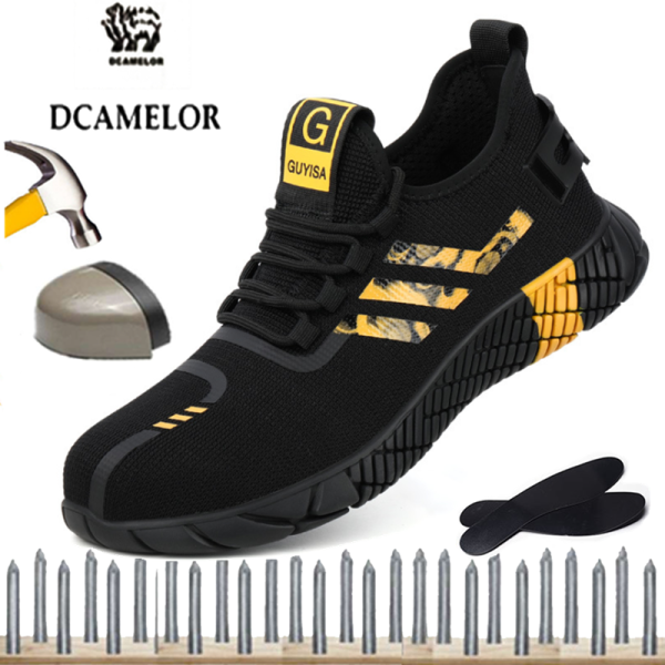 DCAMELOR Size 35-39-42-44-45 Safety Shoes Smash-proof Protective Shoes, Low-cut Smash-proof Safety Shoes, Work Shoes High-Quality Products, Low-Price Clearance (No Return)