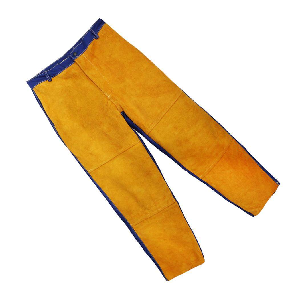 BolehDeals Welding Suits Heat/Flame Resistant Heavy Duty Anti-scald Yellow Pants