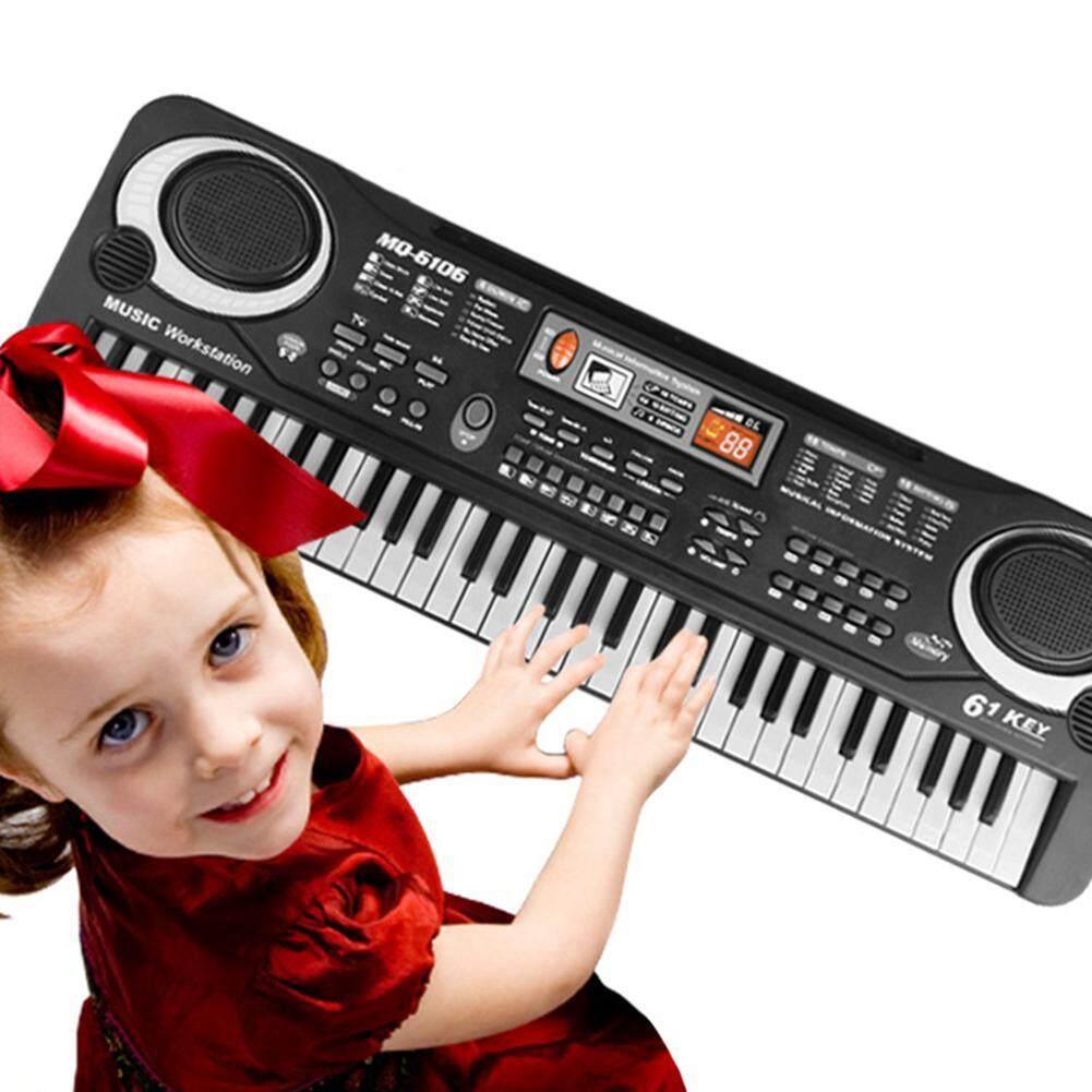 Buyinbulk Keyboard Piano Untuk Anak-Anak, Anak-Anak Piano 61 Kunci Usb Multi-Fungsi Portable Organ Elektronik, Musik Piano, Keyboard, Musik Instrumental Pengajaran Mainan Papan Ketik, Anak-Anak Mikrofon Hadiah By Buyinbulk.