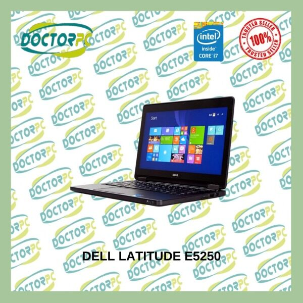 [RAYA PROMO] Dell Laptop Latitude E5250 Core i7 5th Gen/ 8GB RAM/ 480SSD (NEW)/ Win 10P (REFURBISHED) Malaysia