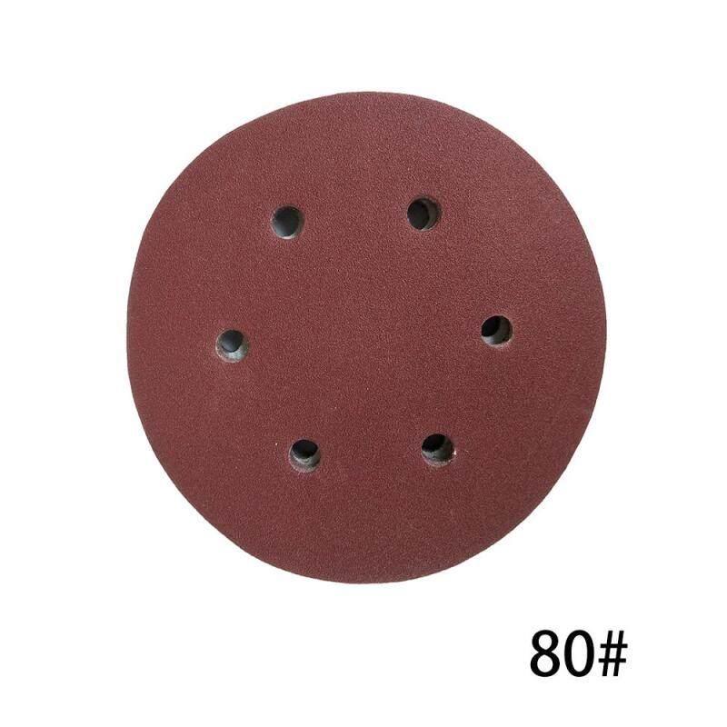 100 CHIẾC 125mm Móc Vòng Giấy Nhám với 8 Lỗ Cát Miếng Lót Bộ 80 Nhám Nhám Đĩa Chất Mài Mòn Dụng Cụ máy đánh bóng