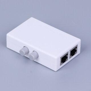 [Mimar] [Shen] Hộp Chia Sẻ Mạng Thủ Công AB 2 Cổng 2 Trong 1 1In2 RJ45 Mạng Ethernet Mini thumbnail