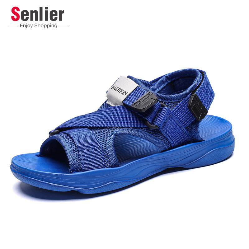 Senlier แฟชั่นรองเท้าเด็กชายรองเท้าแตะกลางแจ้งรองเท้าแตะกีฬาเด็กรองเท้าแตะชายหาดลำลองรองเท้านุ่มรองเท้า (ขนาด: 30-34) By Senlier.