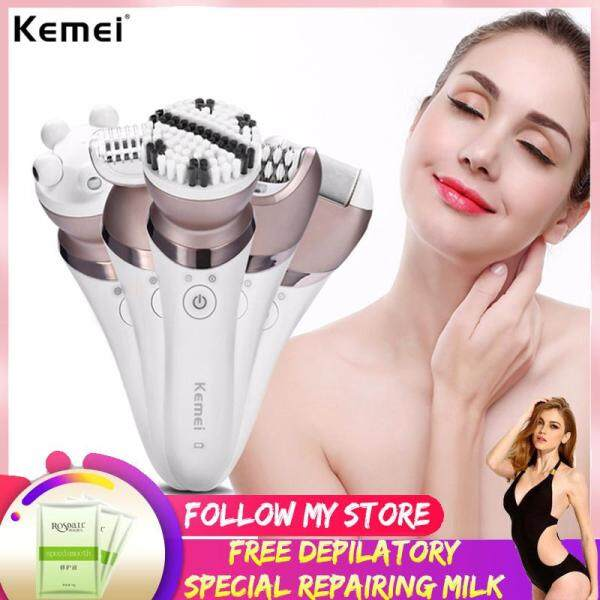 Buy Kemei 5 In 1 Rechargeable Electric Shaver Epilator Shave Hair Removal Women Hair Removal Massager Calluses Removal Sets Singapore