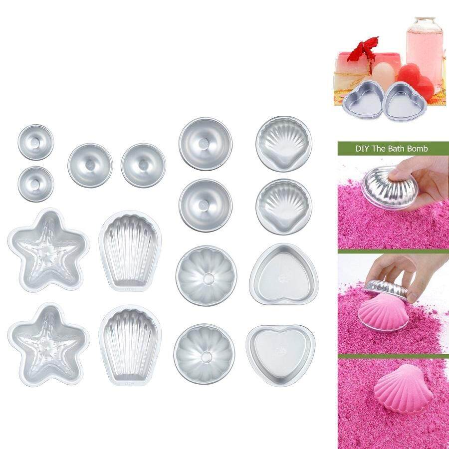 Bath Molds 16pcs Muti Shape Metal Aluminum Bath  Molds Moulds DIY Homemade Soap Crafting