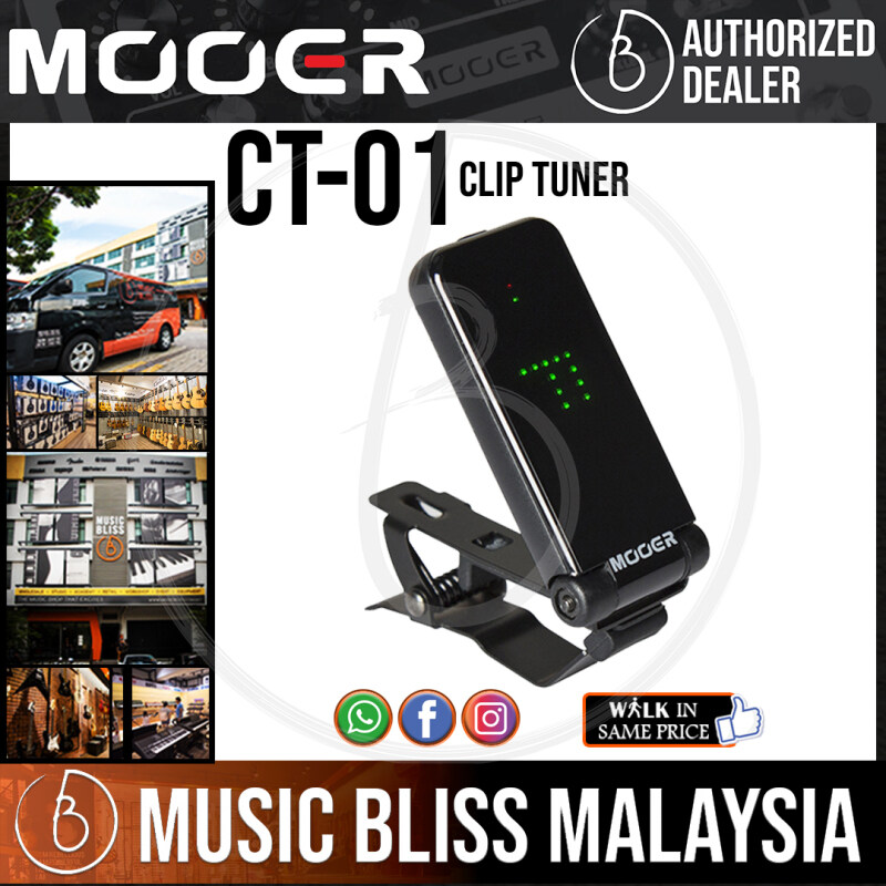 Mooer CT-01 Clip Tuner (CT01 / CT 01) Malaysia