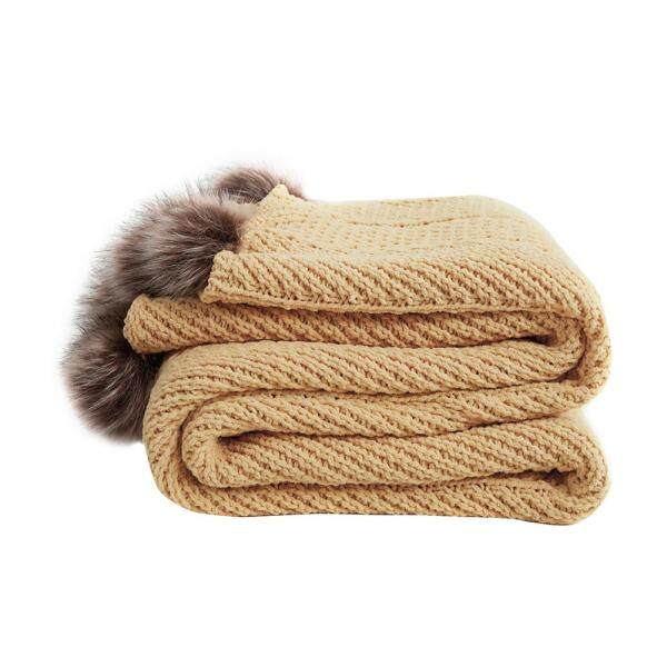 INS wind new hair ball chenille super soft home office nap blanket