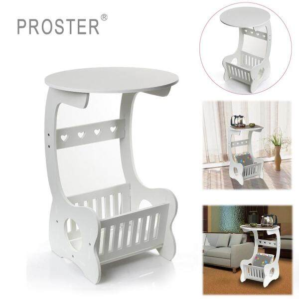 35 x 55 x 26 cm White Chic simple Round Coffee Magzine Bedroom Holder Side Table screwdriver Table Rack End Lamp Sofa