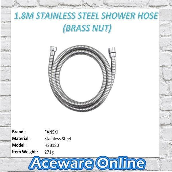 1.8M Stainless Steel Shower Hose (Brass Nut)