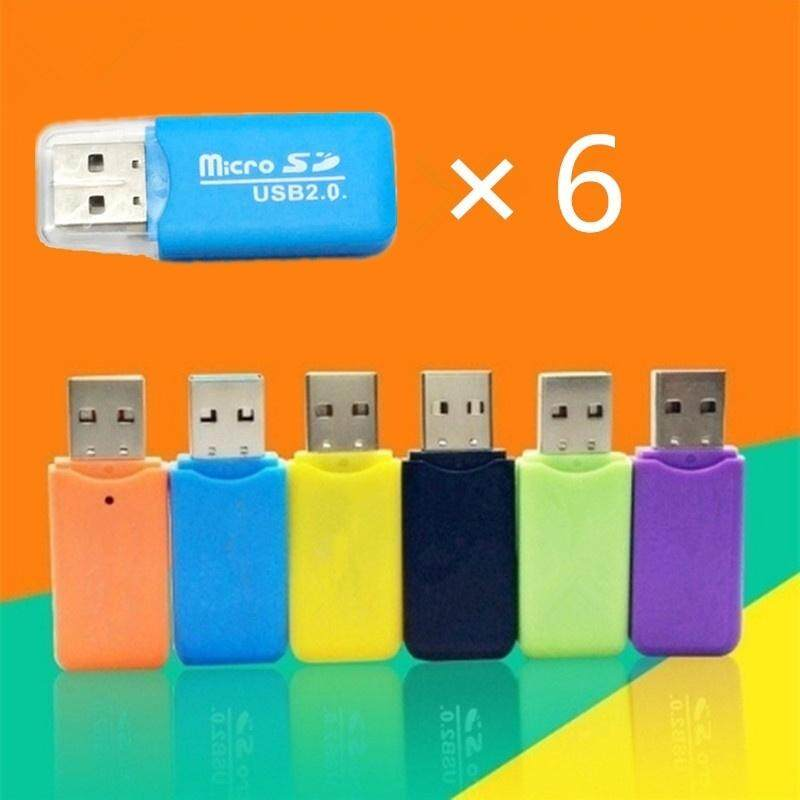 6pcs Tf Card Memory Card Micro Sd Card Reader Usb 2.0 Support 64gb By Qldigital Store.