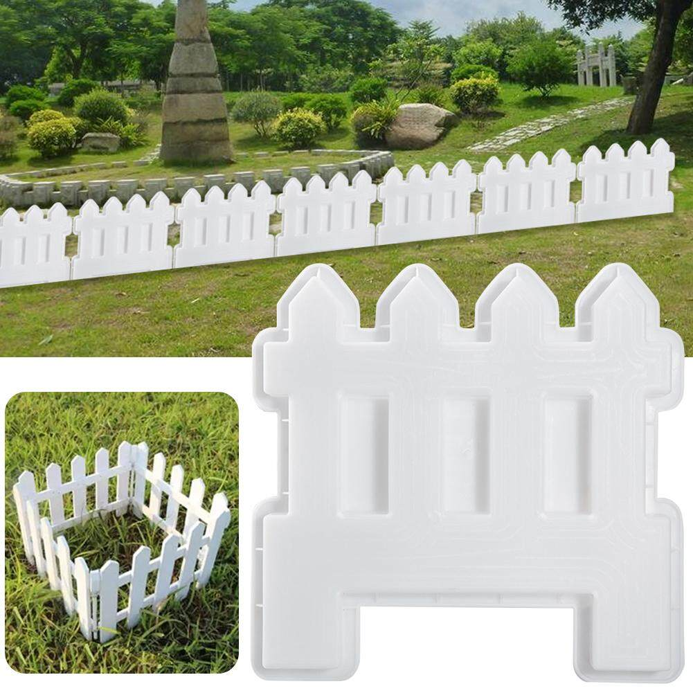 Small Fence Plastic Mold Concrete Cement Garden Pool Floor Tile Fence Paving Mould Path Mold Flower Pool Brick Plastic Mould Lawn Yard Craft Decor