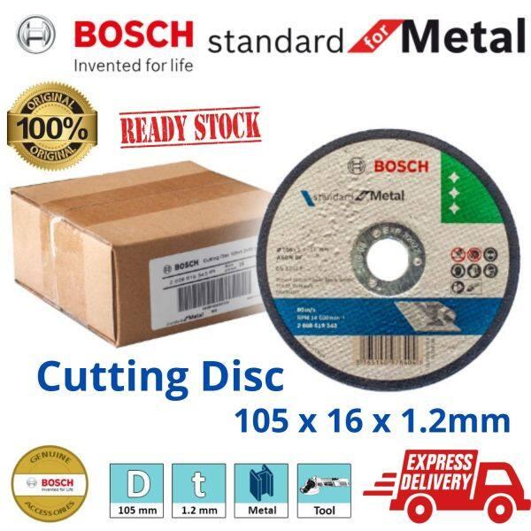 (100% Original) Bosch Metal Cutting Disc 105 x 1.2 x 16mm Mata Potong Besi