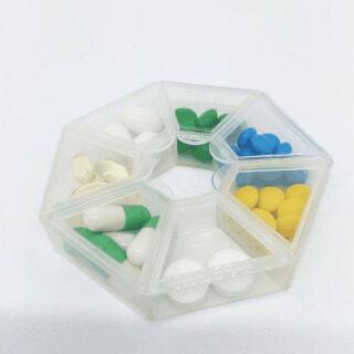 Houseeker Hộp Đựng Thuốc 7 Ngăn Tiện Dụng Hộp Đựng Thuốc Nhỏ Có Chữ Nổi Bằng Nhựa Du Lịch thumbnail
