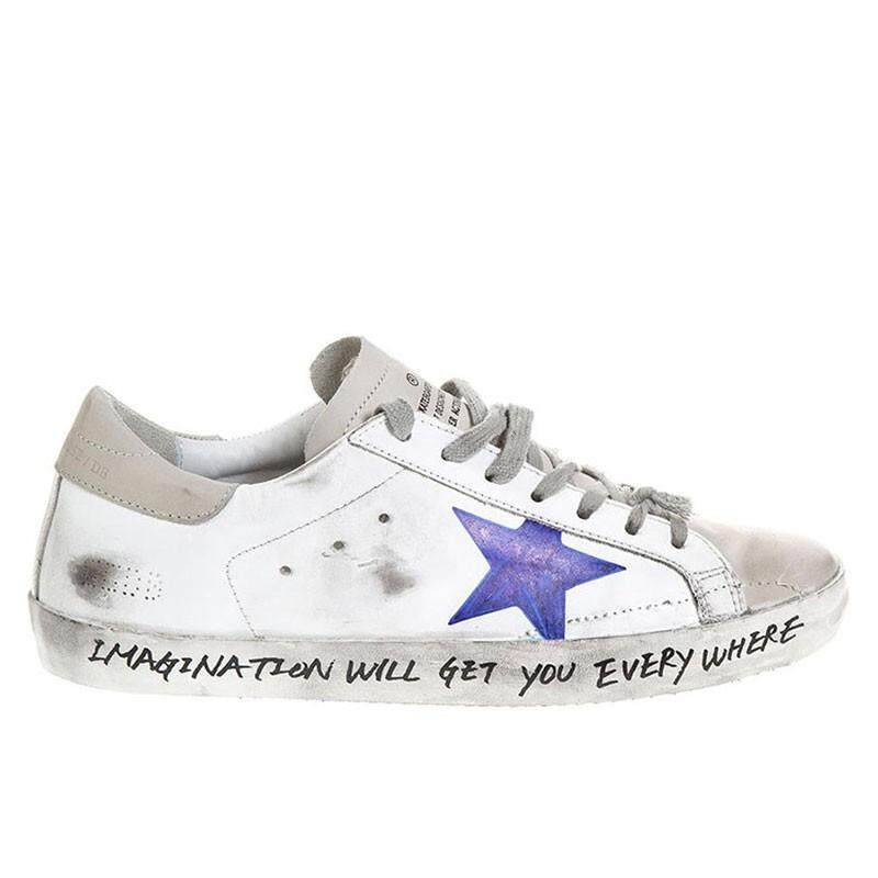 83f440d1 Golden Goose Superstar Sneakers G33MS590.H36 Upper In Calf Leather Openwork  Star Hand Decorated With