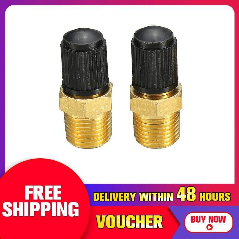 【free Pengiriman + Flash Deal】2x 1/8 Npt Mpt Kuningan Padat Tangki Kompresor Udara Katup Pengisian Schrader By Motorup.