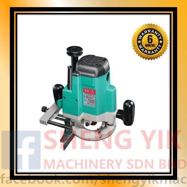 DCA AMR02-12 Wood Router 1650w  Wood Router, equipped with the right rotary cutter for chamfering, grooving, surface finishing, curving cutting, wood edge planing, pattern processing and other operations on wood, plastic sheet, wood veneer and other simil