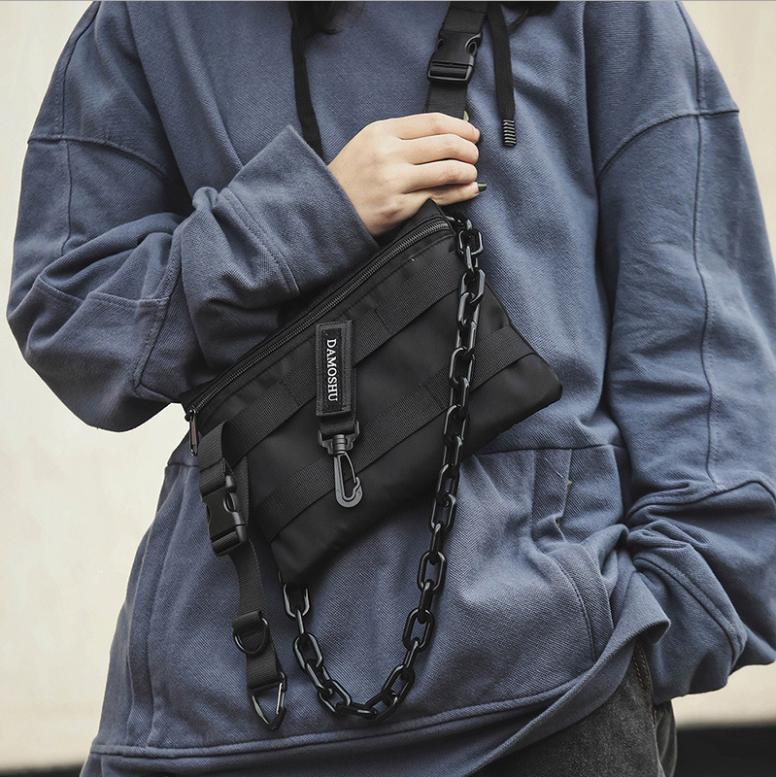 Function Messenger Bag Phone Pack Hip Hop Street Tide Men And Women Nylon Tactical