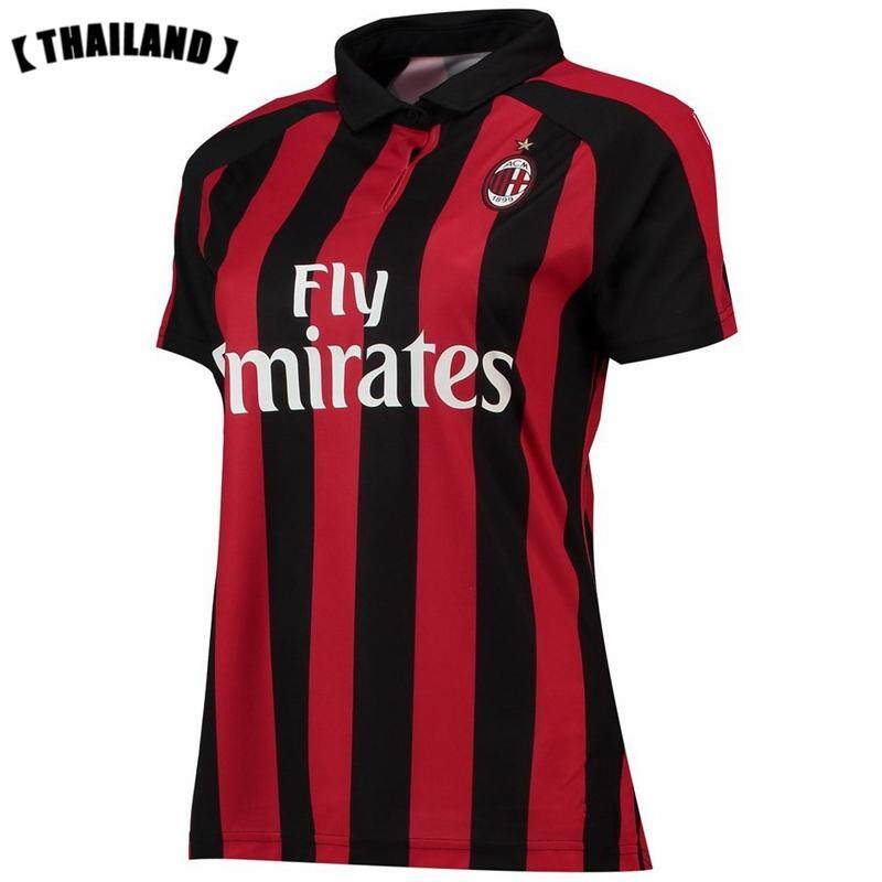 73cec9191 2018/2019 AC Milan Jersey Short sleeve New Season Home And Away and 3rd  Football