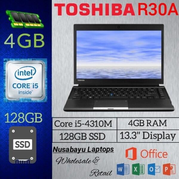 TOSHIBA Laptop Portege R30-A / Intel Core i5 4th Gen 4210M (2.50 GHz) / 4 GB Memory / 128 GB SSD / Intel HD Graphics  / 13.3 Display / Windows 10 Pro Malaysia