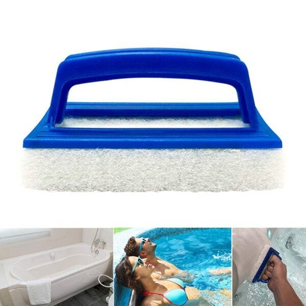 Tool Cleaning Brush W/ Handle Brush Cleaning Hand Hot Tub Pad Pool Scrubbing