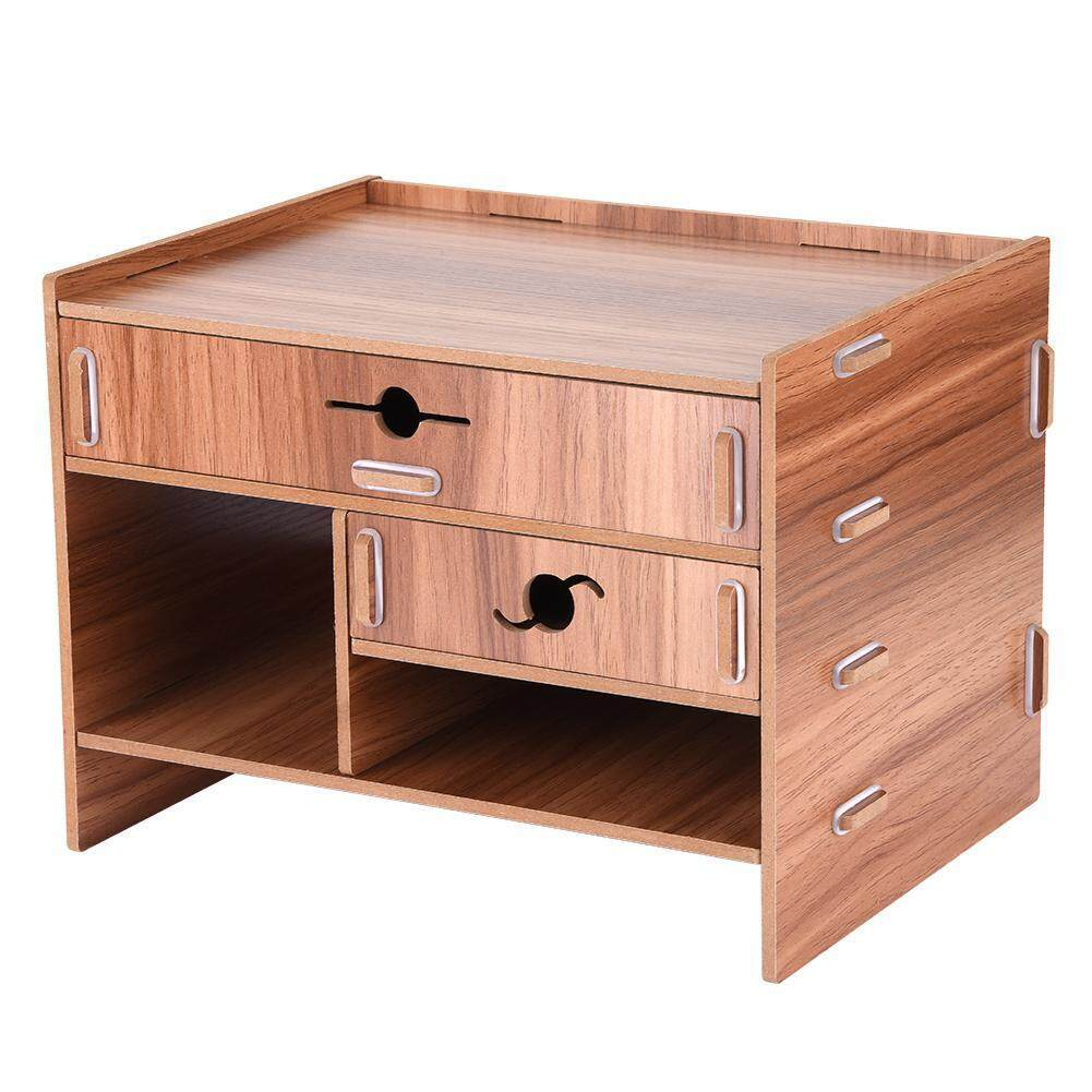Wooden Office Home Storage Box Innovative Shelf Drawer Type Desktop Finishing Box