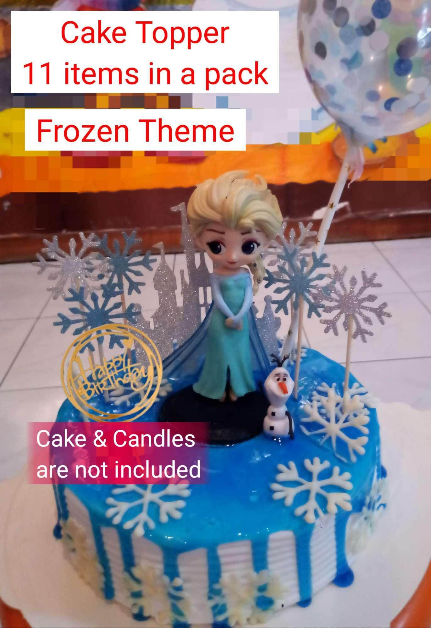 Brilliant Frozen Cake Topper 11 Items In A Pack Elsa Figurine Olaf Showman Funny Birthday Cards Online Inifofree Goldxyz